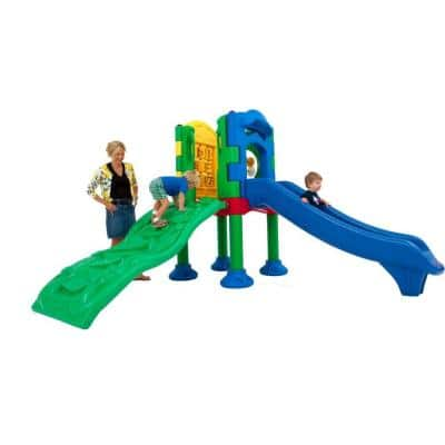 Discovery Center Commercial Playground 1 Deck without Roof Ground Spike Mounting