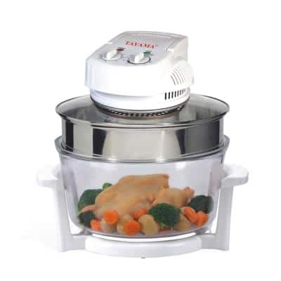 Turbo 1300 W White Countertop Convection Oven with Built-In Timer