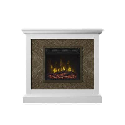 42 in. Wall Mantel Freestanding Electric Fireplace in White