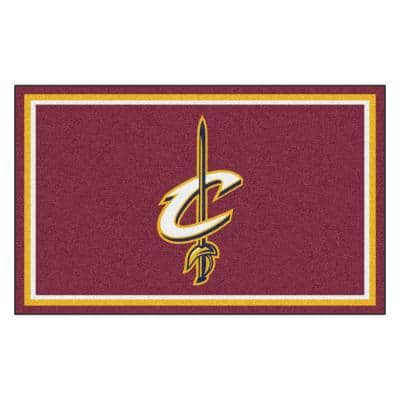 NBA - Cleveland Cavaliers Reddish Brown 4 ft. x 6 ft. Area Rug