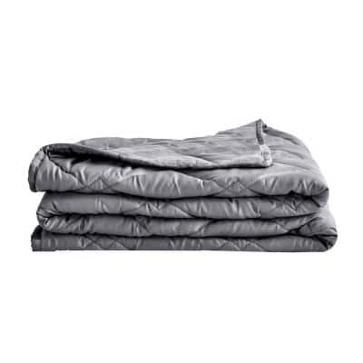 Grey Tencel 48 in. x 72 in. x 15 lbs. Weighted Throw Blanket