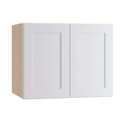 Newport Assembled 36 x 24 x 24 in. Plywood Shaker Deep Wall Kitchen Cabinet Soft Close in Painted Pacific White