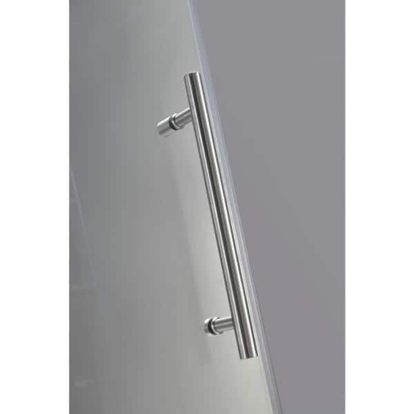 Aston Neoscape Gs 38 In X 72 In Frameless Neo Angle Shower Enclosure In Stainless Steel With Glass Shelves Sen991 Ss 38 10 The Home Depot