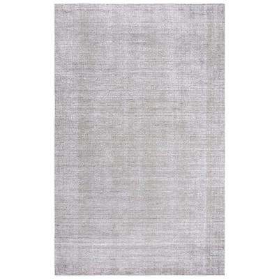 Demure Gray 8 ft. x 10 ft. Gradient Solid Wool Viscose Area Rug