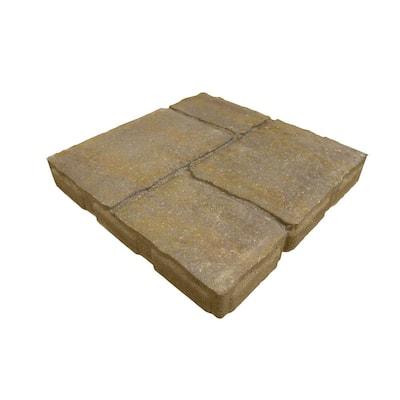 15.75 in. x 15.75 in. x 2 in. 4 Cobble Avondale Concrete Step Stone