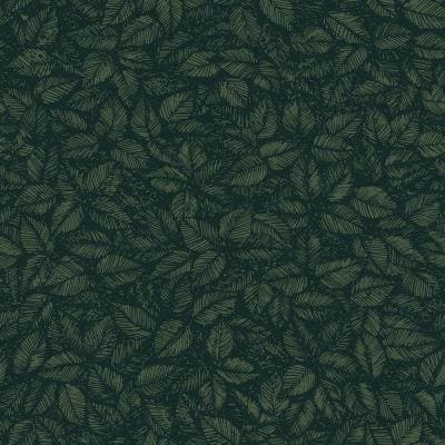 Amorina Green Leaf Paper Strippable Roll Wallpaper (Covers 57.8 sq. ft.)