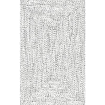 Lefebvre Casual Braided Ivory 6 ft. x 9 ft. Indoor/Outdoor Area Rug