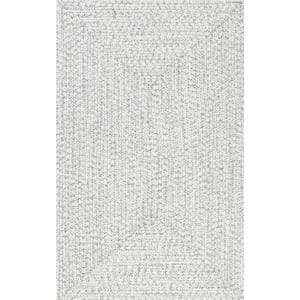 Lefebvre Casual Braided Ivory 9 ft. x 12 ft. Indoor/Outdoor Area Rug
