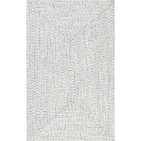 Nuloom Lefebvre Casual Braided Ivory 9 Ft X 12 Ft Indoor Outdoor Area Rug Hjfv01e 860116 The Home Depot