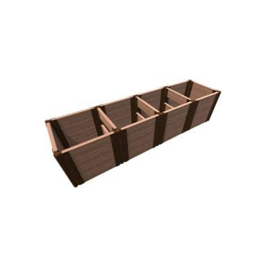2 ft. x 8 ft. x 22 in. Tool-Free Classic Sienna Composite Raised Garden Bed (2 ft. Sections) 2 in. Profile