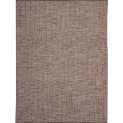 Positano Natural 9 ft. x 12 ft. Solid Contemporary Indoor/Outdoor Area Rug
