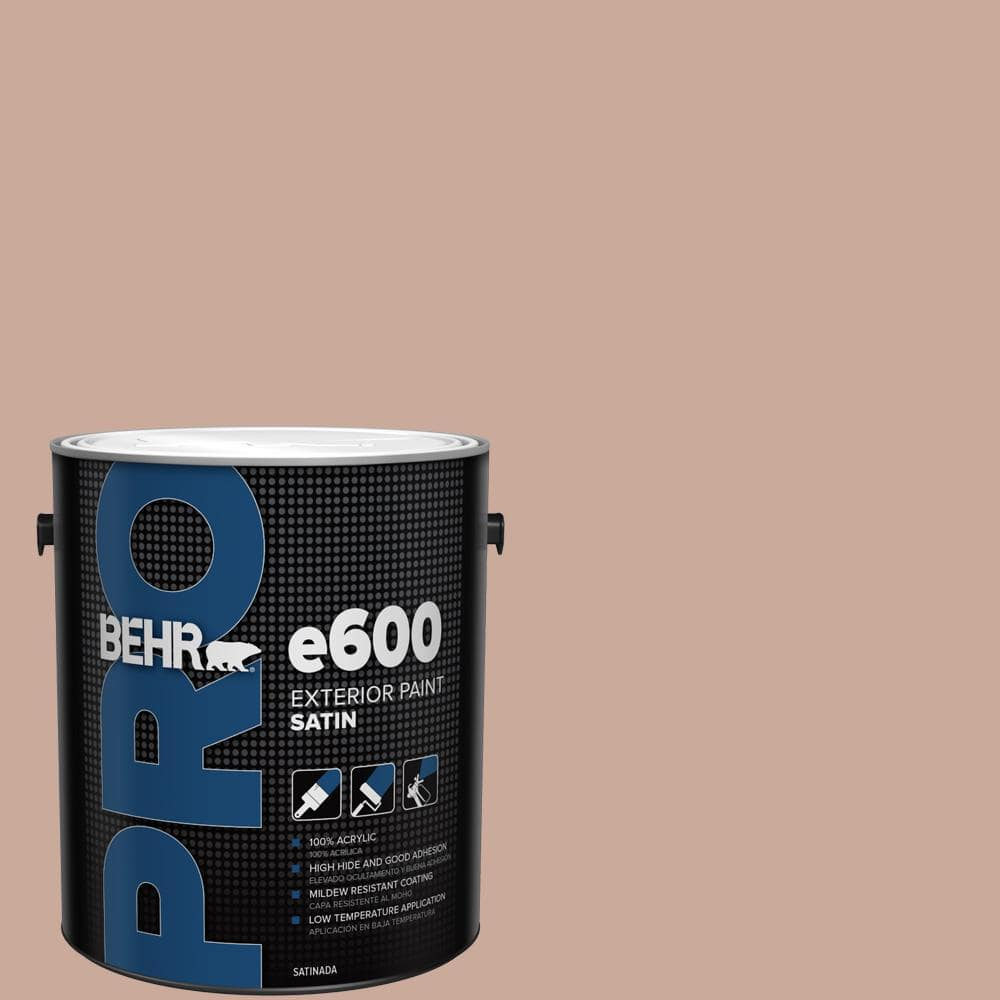 Behr Pro 1 Gal Icc 97 Powdered Allspice Satin Exterior Paint Pr64001 The Home Depot
