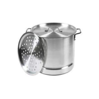 Mexicana 32 qt. Aluminum Stovetop Steamer with Lid and Steam Tray
