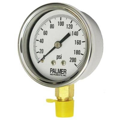 2.5 in. Dial 200 psi Stainless Steel Case Utility Gauge