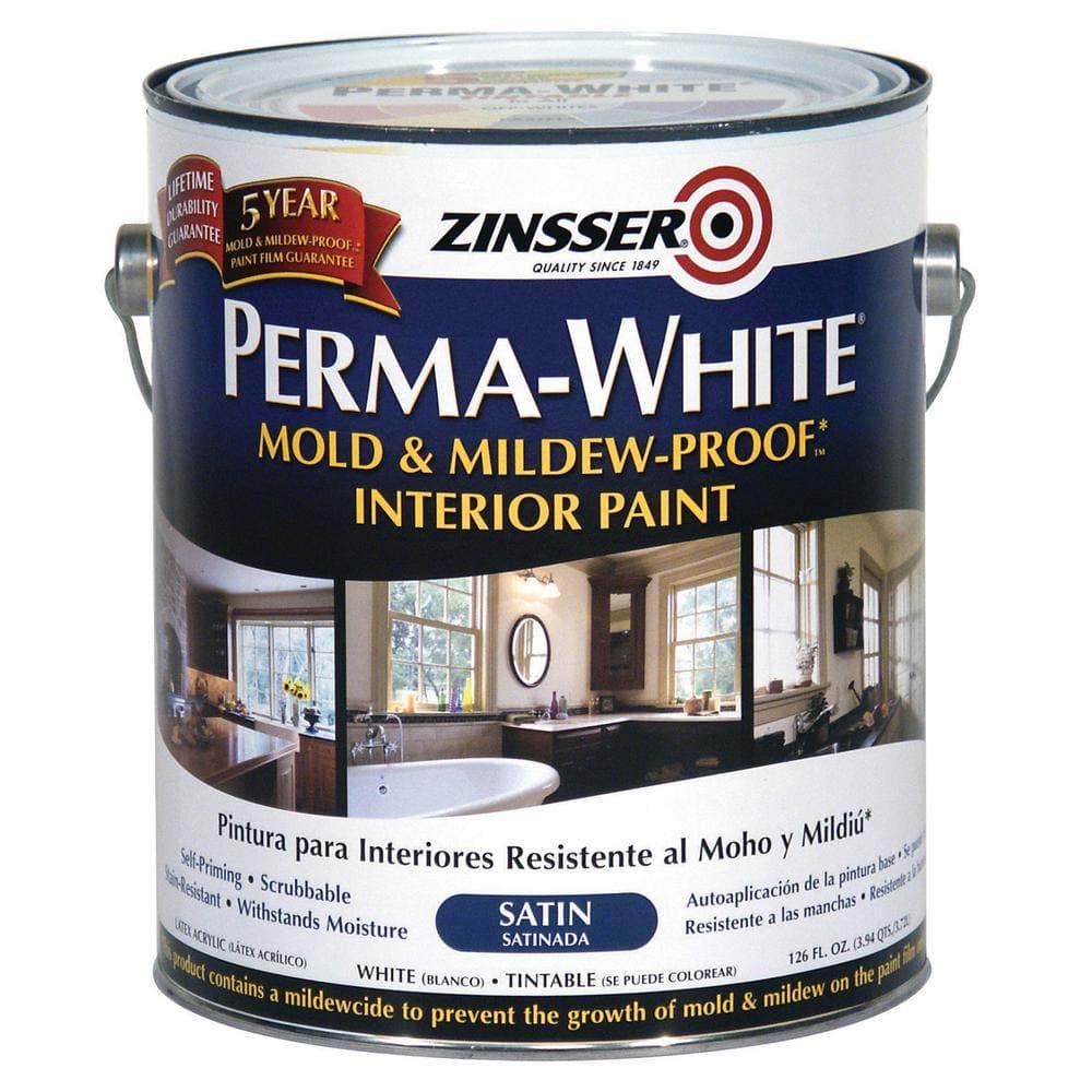 Zinsser Perma White 1 Gal Mold, Home Depot Bathroom Paint