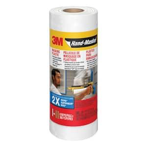 0.5 ft. x 360 ft. Translucent Hand-Masker Masking Plastic (Case of 12)