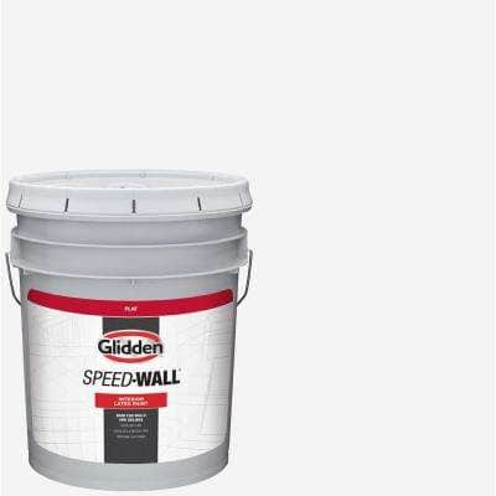 5 gal. Speedwall White Flat Interior Latex Paint