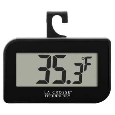 Small Black Digital Thermometer with Hook