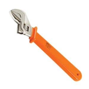 """8/"""" Aven 21190-8G Adjustable Stainless Steel Wrench with PVC Grips"""