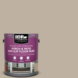 Behr Premium 1 Gal Pfc 32 Spanish Parador Textured Low Lustre Enamel Interior Exterior Porch And Patio Anti Slip Floor Paint 625001 The Home Depot