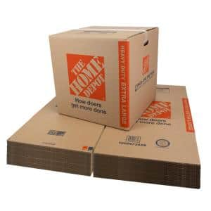 Heavy-Duty Extra-Large Moving Box with Handles 25-Pack (22 in. L x 22 in. W x 21 in. D)