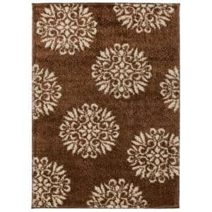 Exploded Medallions Dark Earth 5 ft. x 7 ft. Indoor Area Rug