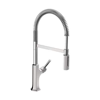 Locarno Single-Handle Pull-Out Sprayer Kitchen Faucet with QuickClean in Chrome
