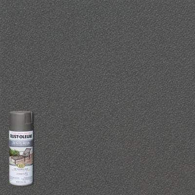 12 oz. Textured Dark Pewter Protective Spray Paint (6-Pack)