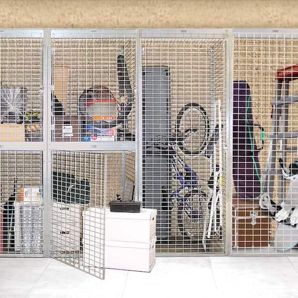 Salsbury Industries Storage Locker Option 36 In W X 36 In D X 0 5 In H Wire Shelf Bulk Storage Locker With Shelf Option In Aluminum 8333 S The Home Depot
