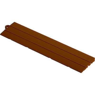 2.75 in. x 12 in. Chocolate Brown Pegged Polypropylene Ramp Edging for Diamondtrax Home Modular Flooring (10-Pack)
