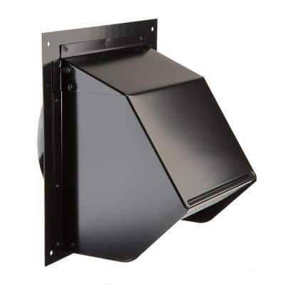 Wall Cap for Exhaust Fan or Range Hood with 6 in. Round Duct in Black
