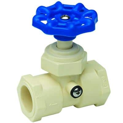 3/4 in. CPVC Solvent x Solvent Stop Valve with Waste Cap