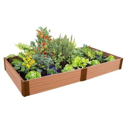 Classic Sienna Raised Garden Bed 4 ft. x 8 ft. x 11 in. – 1 in. profile