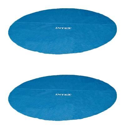 Easy Set 15 ft. Round Blue Vinyl Solar Cover for Swimming Pools (2-Pack)