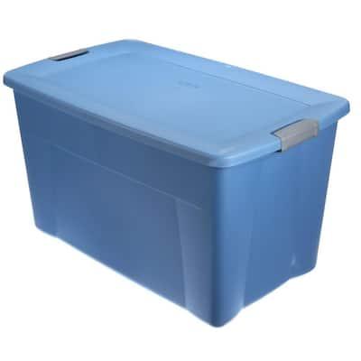 Latching 35-gal. Storage Bin in Lapis Blue