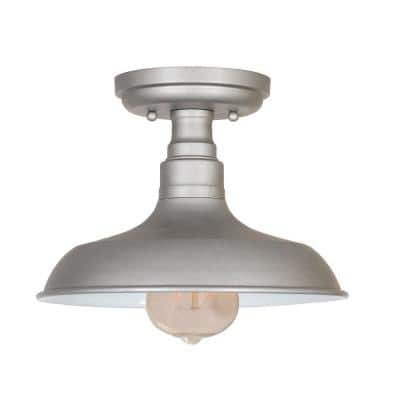Kimball 1-Light Galvanized Paint Finish Indoor Ceiling Mount