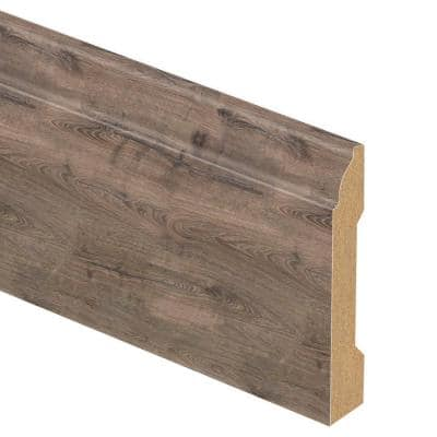 Vintage Pewter Oak 9/16 in. Thick x 3-1/4 in. Wide x 94 in. Length Laminate Wall Base Molding