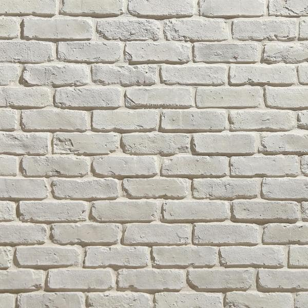 Koni Brick Old Chicago Blanc 7 08 In X 2 50 In Thin Brick 5 90 Lin Ft Corners Manufactured Stone Siding Kbcn 276blc The Home Depot
