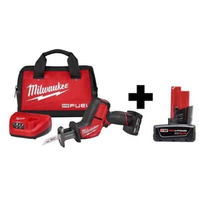 M12 FUEL 12-Volt Lithium-Ion Brushless Cordless HACKZALL Reciprocating Saw Kit with 6.0Ah Battery