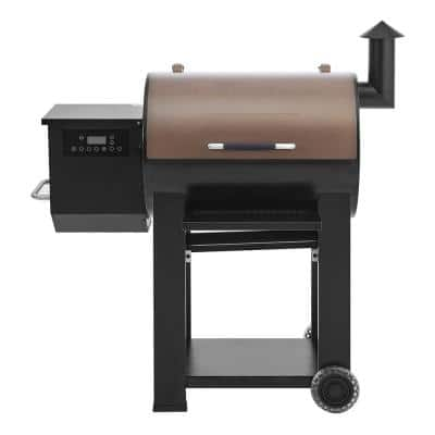 Pellet Grill in Black with Wi-Fi Control