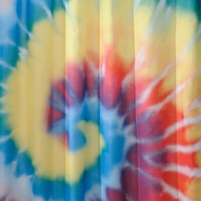 Shower Curtain in Bright Tie Dye
