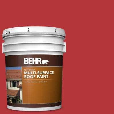 5 gal. #P160-7 Stiletto Love Flat Multi-Surface Exterior Roof Paint