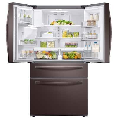 28 cu. ft. 4-Door French Door Refrigerator in Fingerprint Resistant Tuscan Stainless