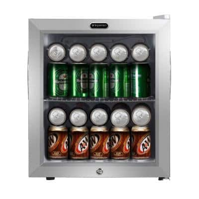 19 in. 62 (12 oz.) Can Cooler 1.6 cu. ft. Mini Refrigerator in White with Lock