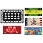 22 in. x 10 in. Spring Holiday Sassafras Switch Mat Collection w/ Decorative Rubber Frame (Set of 5)