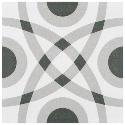 Twenties Circle 7-3/4 in. x 7-3/4 in. Ceramic Floor and Wall Tile (0.42 sq. ft./Each)