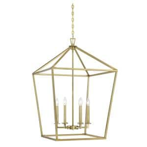 6-Light Warm Brass Pendant
