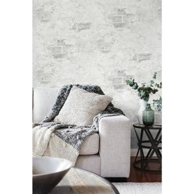 Faux Stuccoed Brick Peel and Stick Wallpaper (Covers 30.75 sq. ft.)