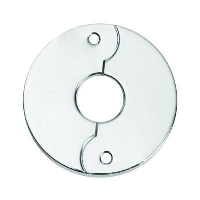 1/2 in. Iron Pipe Size Split Flange Escutcheon Plate in Chrome-Plated Steel