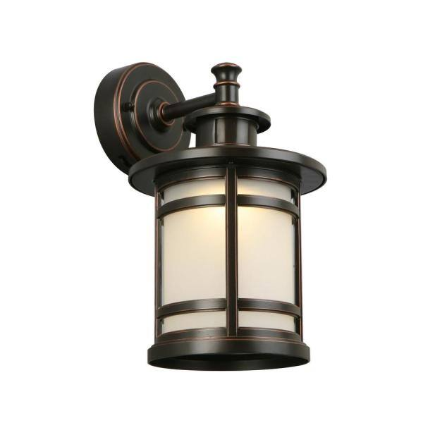 Home Decorators Collection Oil Rubbed, Imre 2 Light Outdoor Sconce With Motion Sensor